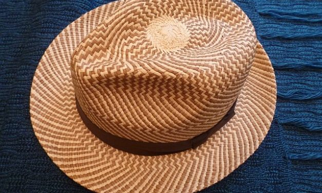 Rotolamento del cappello Panama correttamente